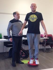 Der blinde Teilnehmer Thomas Reinert ist Profi für mentale Vorstellungskraft