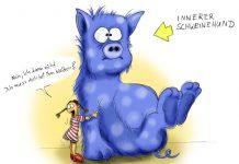 Den inneren Schweinehund kann man mit Willenskraft bekämpfen.