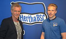 Vater Torsten und Sohn Dominik Wohlert sind Kollegen bei Hertha BSC.